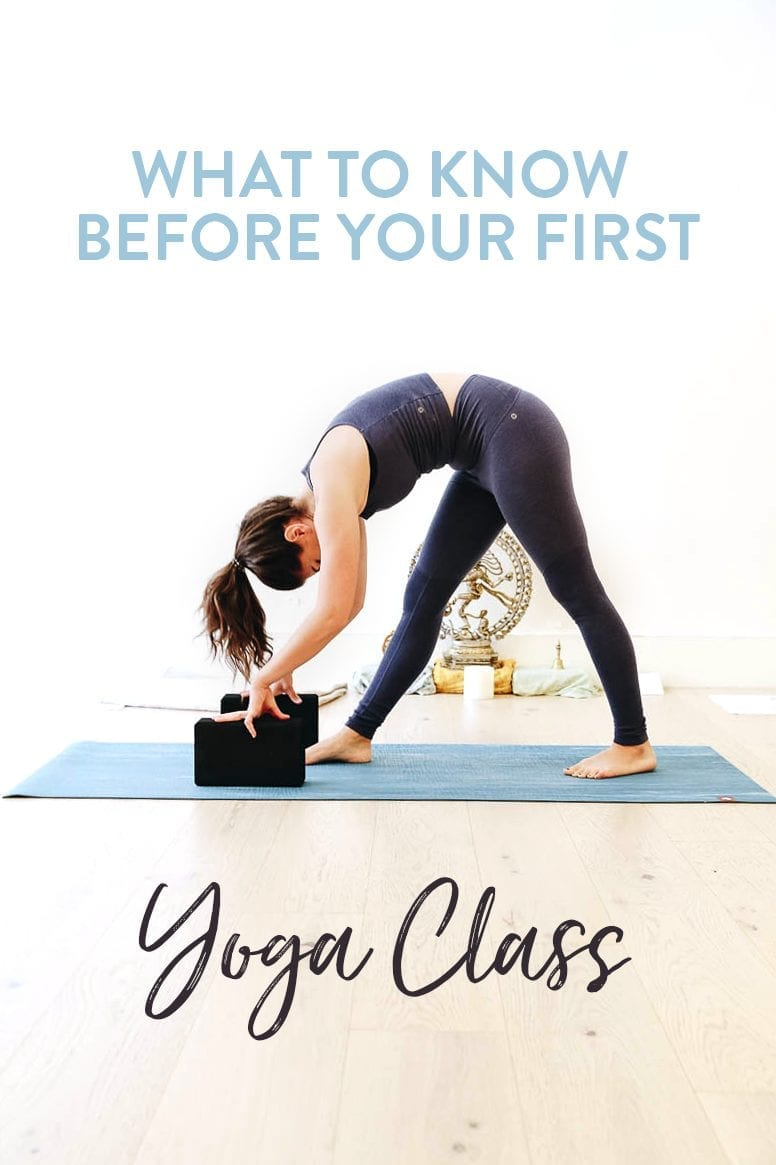 Attending your first yoga class? Here's what you should know before your first yoga class including what to bring, what to know and basic moves that are helpful before you attend.