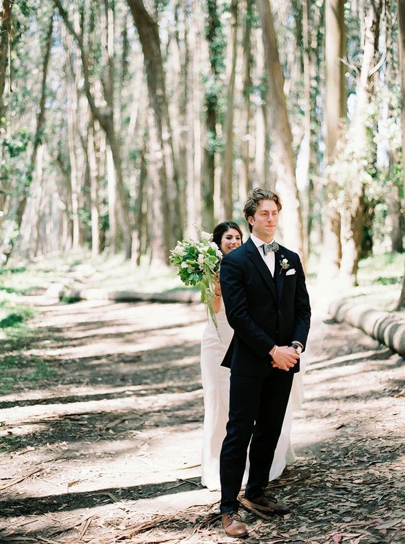First look at Lover's Lane In The Presidio - A green and white San Francisco, California eucalyptus-inspired wedding #wedding #weddinginspo #sanfrancisco