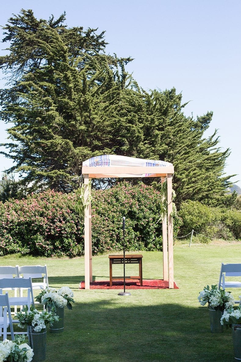 DIY Wedding Chuppah for San Francisco, California Wedding