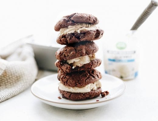 Homemade Vegan Vanilla Bean Double Chocolate Ice Cream cookies #vegan #cookies #icecream
