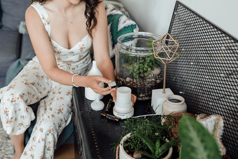 """Have you wanted to start using essential oils but don't know where to start? In this intro guide to essential oils, we're sharing what makes these oils """"essential"""", how to use them safely and everything you need to know about these powerful oils."""