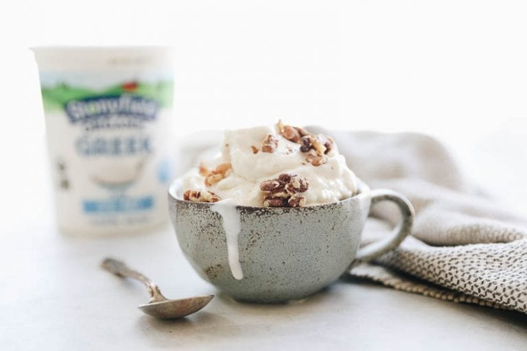 How to make frozen yogurt with just 3 ingredients in your ice cream maker! #frozenyogurt #healthy #dessert