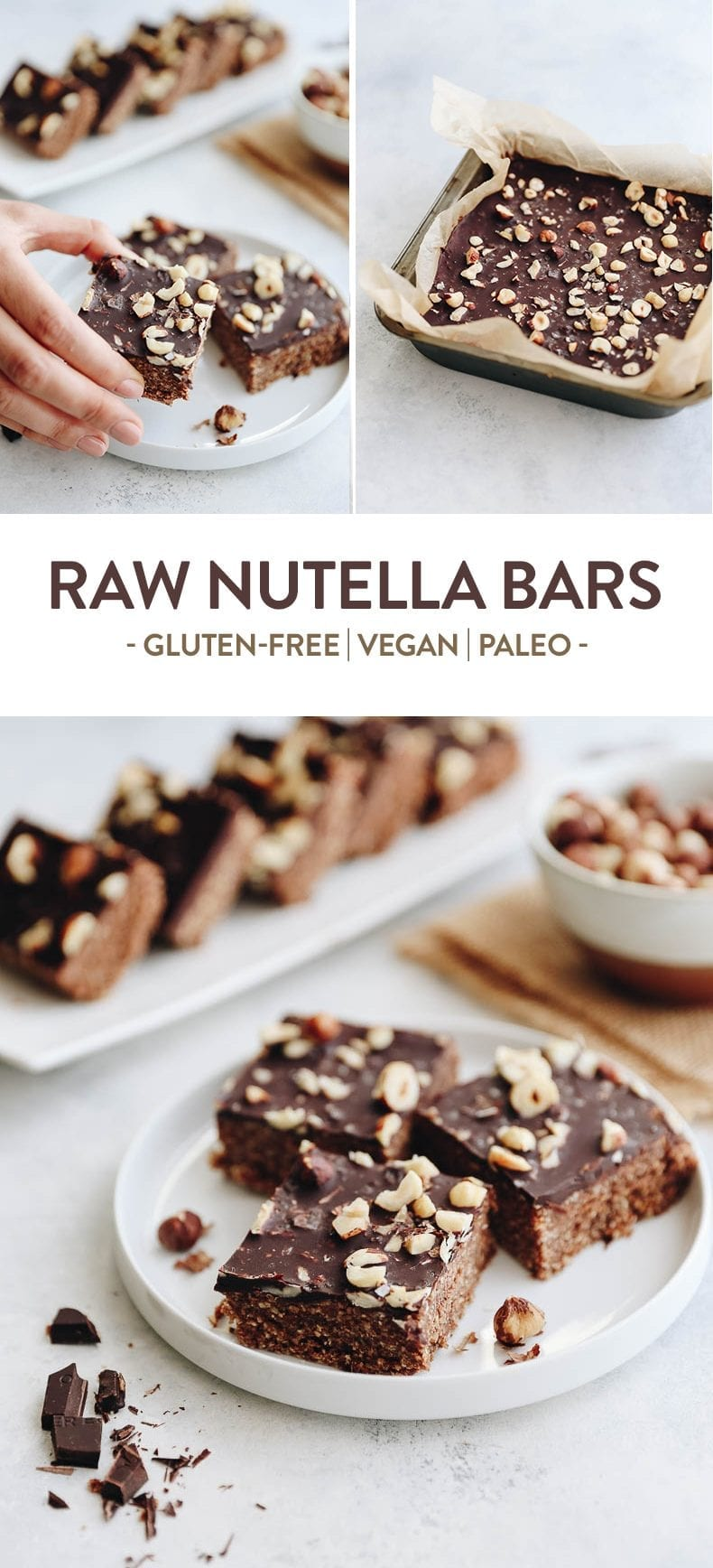 These Raw Nutella Bars make for a healthy and quick snack made with just 5 simple ingredients you probably already have in your house. A go-to snack recipe for vegan and non-vegans alike #vegan #raw #nutella