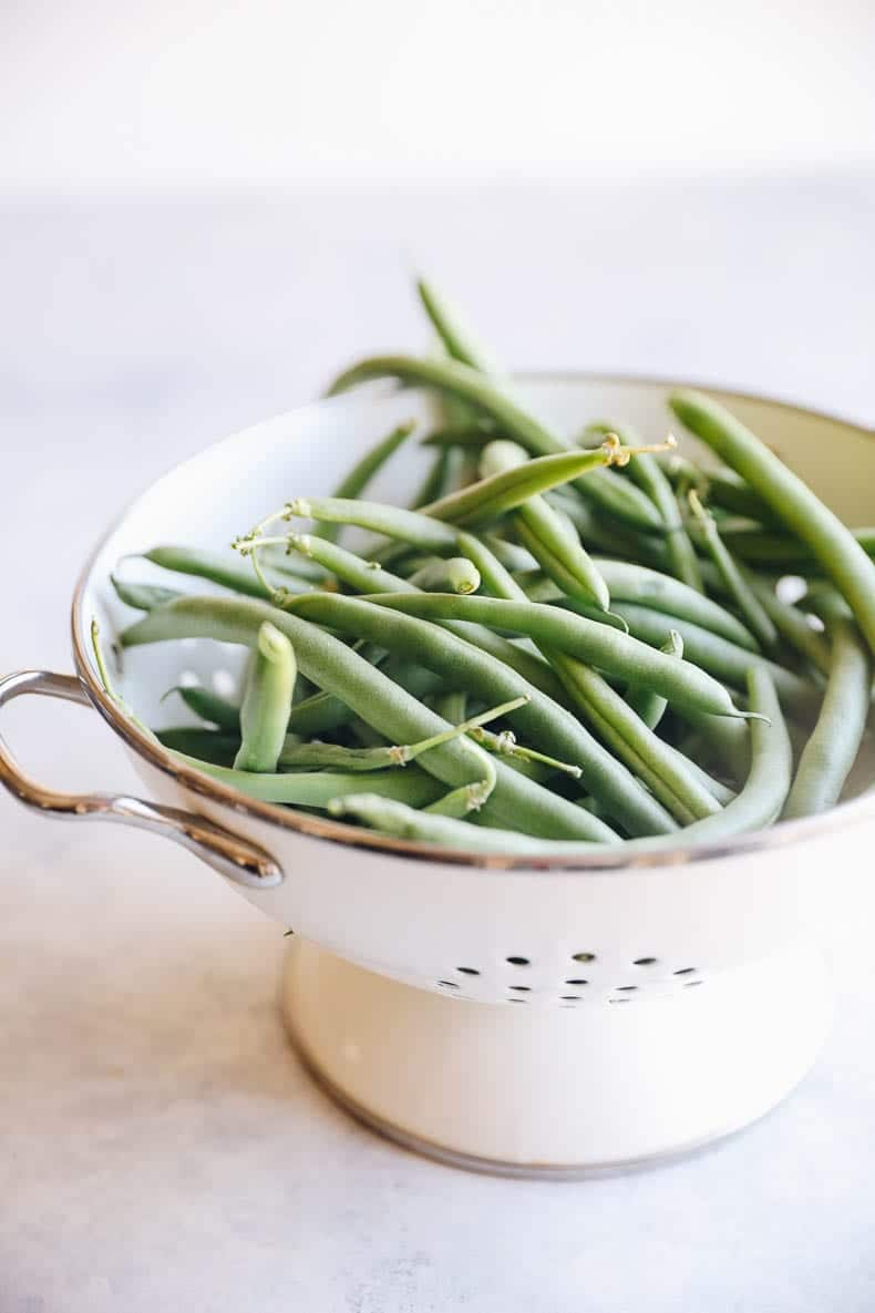 washed green beans