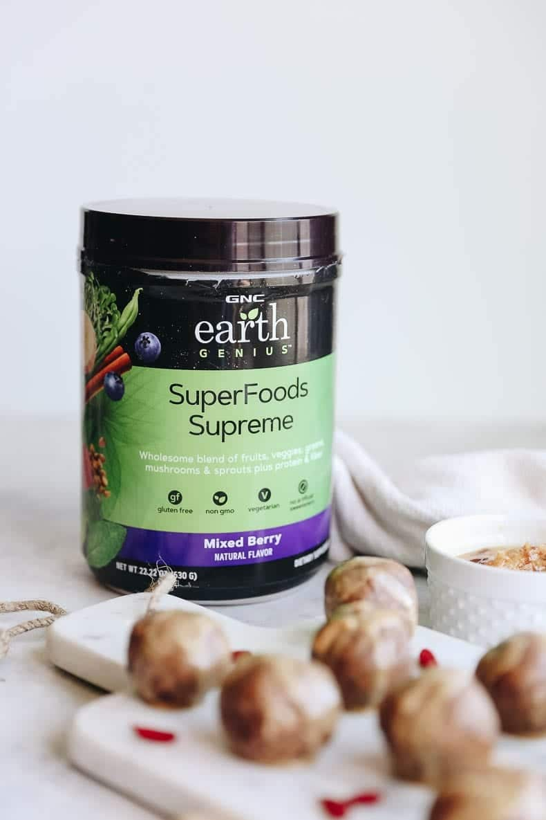You can have your PB&J and eat it too with these PB&J Superfood Energy Balls. Packed full of nutrition and nature-based superfoods, you will love these quick and easy bites on the go.