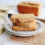 A sweet and savory snack or side, this Sweet Potato Cornbread will easily become a staple this holiday season. This fall dish has the earthiness of cornmeal mixed with the sweetness of sweet potato for a moist and delicious loaf. #sweetpotato #cornbread #healthy