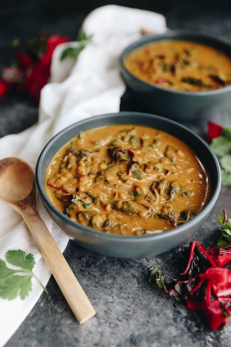 Warm of from the inside out with this flavorful Thai Curry Carrot Lentil Soup. A filling soup recipe to enjoy for lunch or dinner with plenty of plant-based protein and a full serving of veggies! #soup #plantbased #recipe