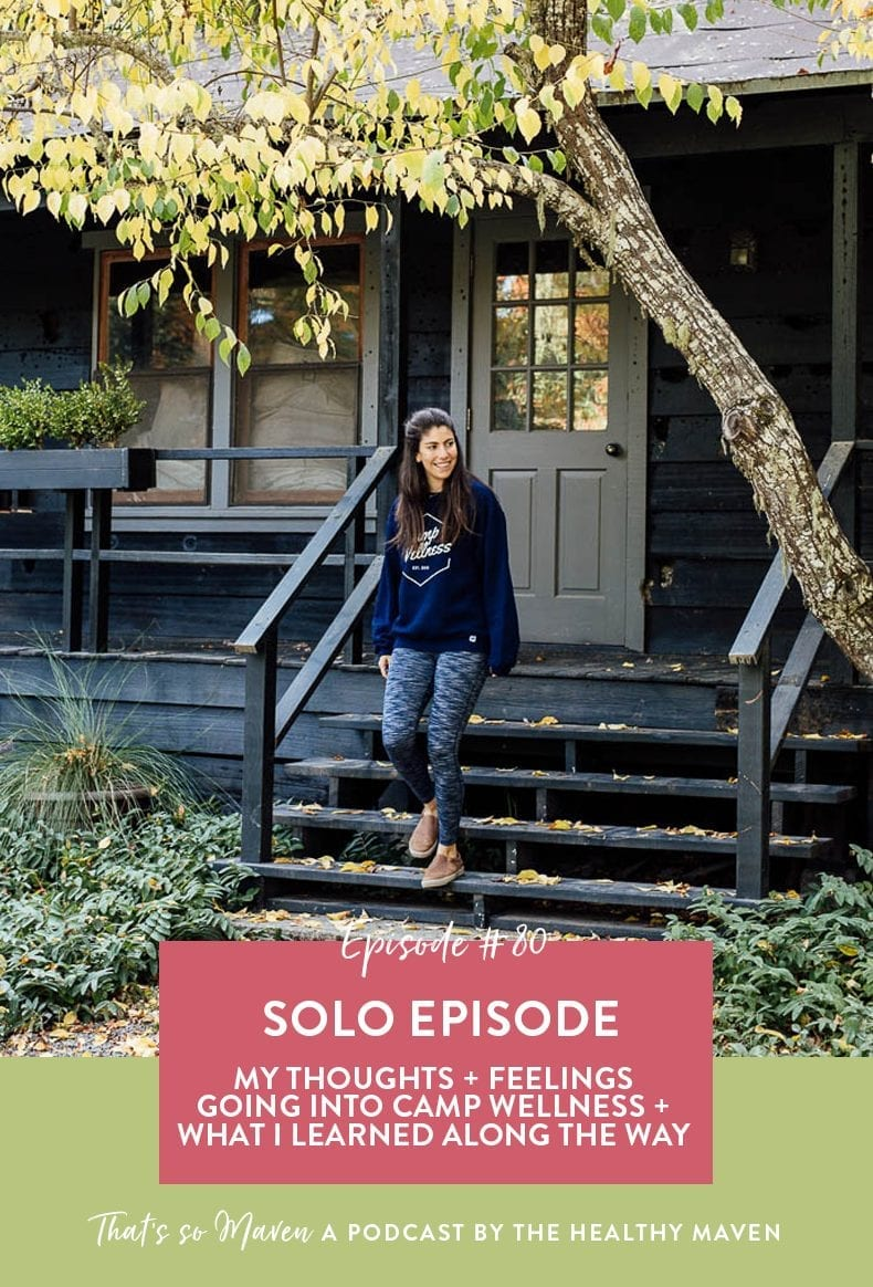 On Episode 80 of That's So Maven, Davida is chatting about the impacts of Camp Wellness and her state of mind and emotions leading into camp and how she felt afterwards.