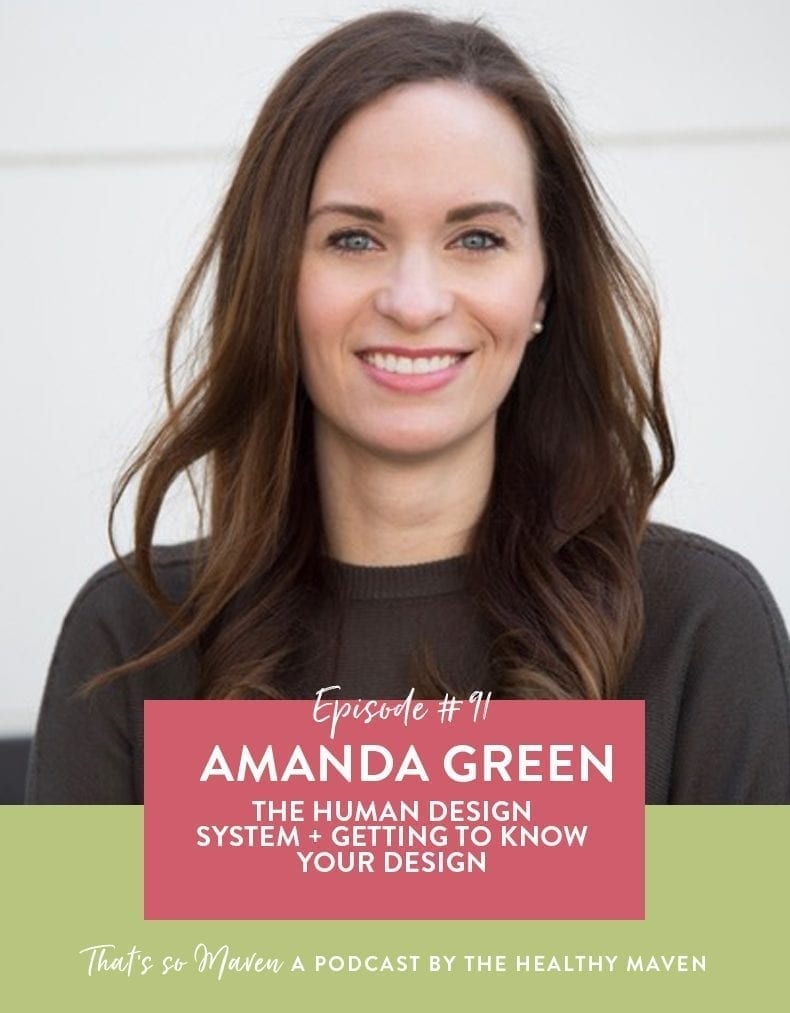 On episode #91 of the That's So Maven podcast Davida is chatting with Amanda Green of Intuitive Galaxy all about human design and getting her chart read live with Amanda.