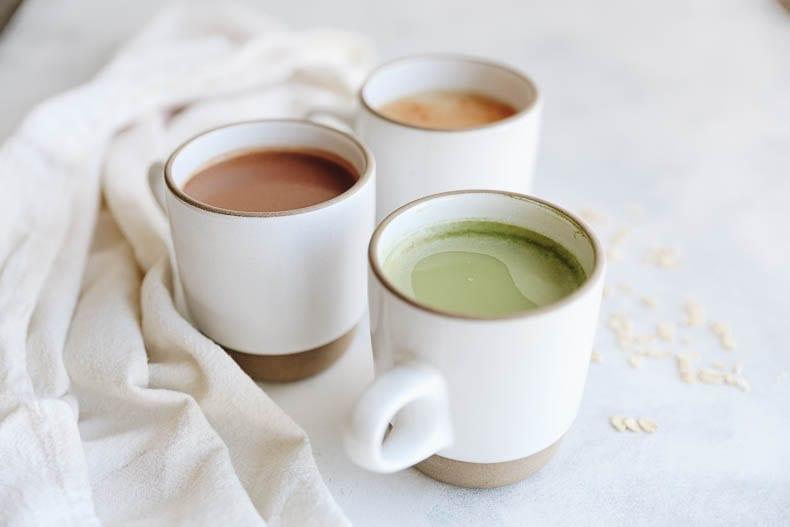 How To Make Oat Milk Lattes - 3 different flavor varieties! #oatmilk #lattes