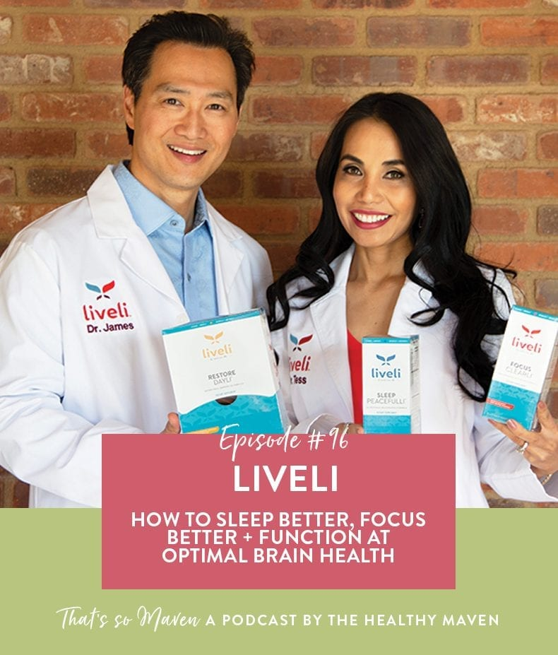 On episode #96 of That's So Maven, Dr. James Lee + Dr. Tess Mauricio is joining Davida to discuss how to focus better, sleep better and function at optimal brain health.
