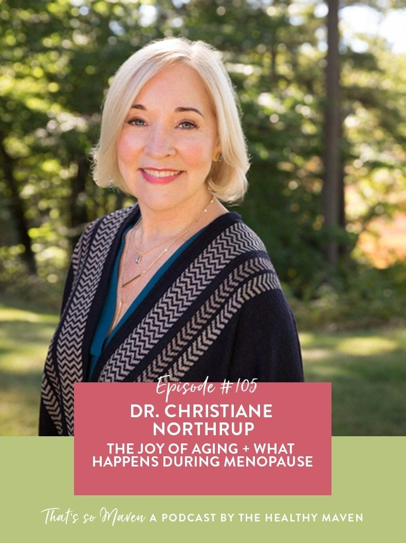 "On Episode #105 of the podcast, Davida is chatting with Dr. Christiane Northrup all about the joy of aging, why she prefers not to use the word ""aging"" + all about menopause!"