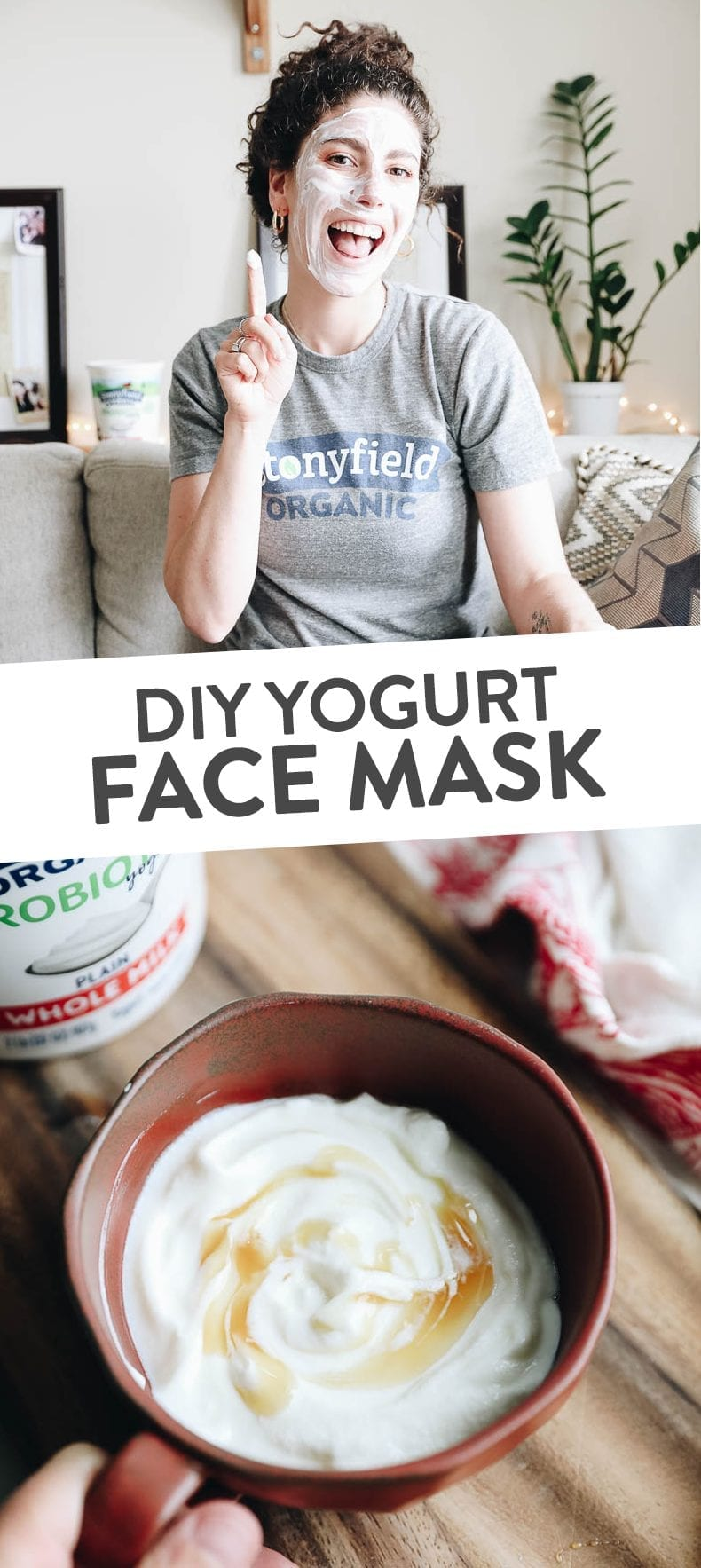 Face Mask on a budget with this DIY Yogurt Face Mask and all about why yogurt is GREAT for acne-prone skin #yogurt #facemask