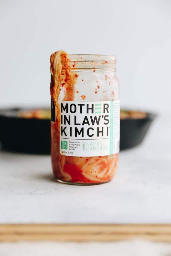 Mother-in-law's kimchi. Our favorite Kimchi for this healthy kimchi fried rice!