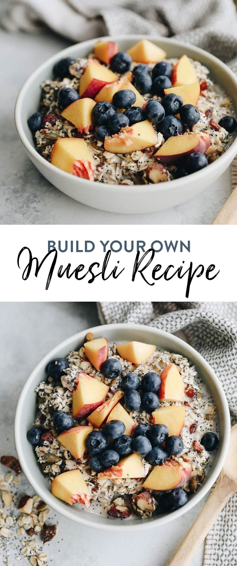 A healthy breakfast alternative made from scratch! You can easily customize this healthy make your own muesli recipe to suit your needs and wants #muesli