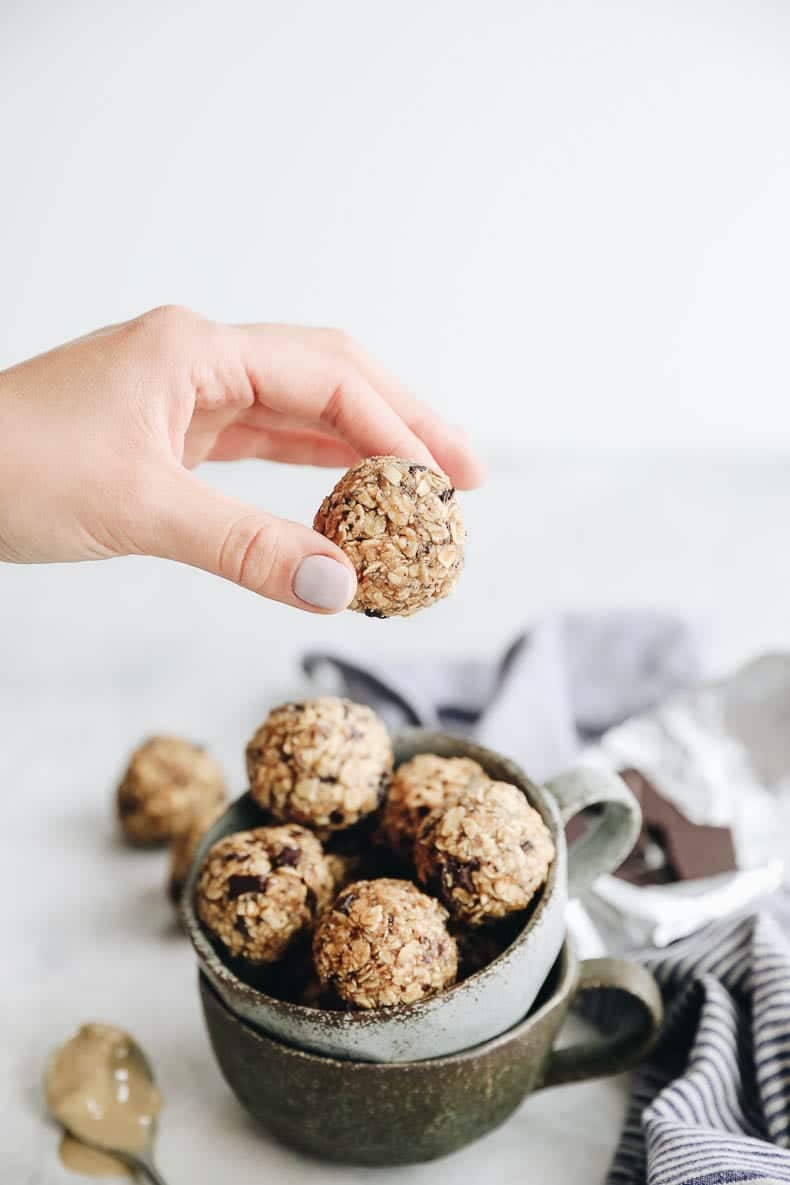 the perfect snack on-the-go comes together in just 10 minutes with these no-bake tahini energy balls #nobake #balls