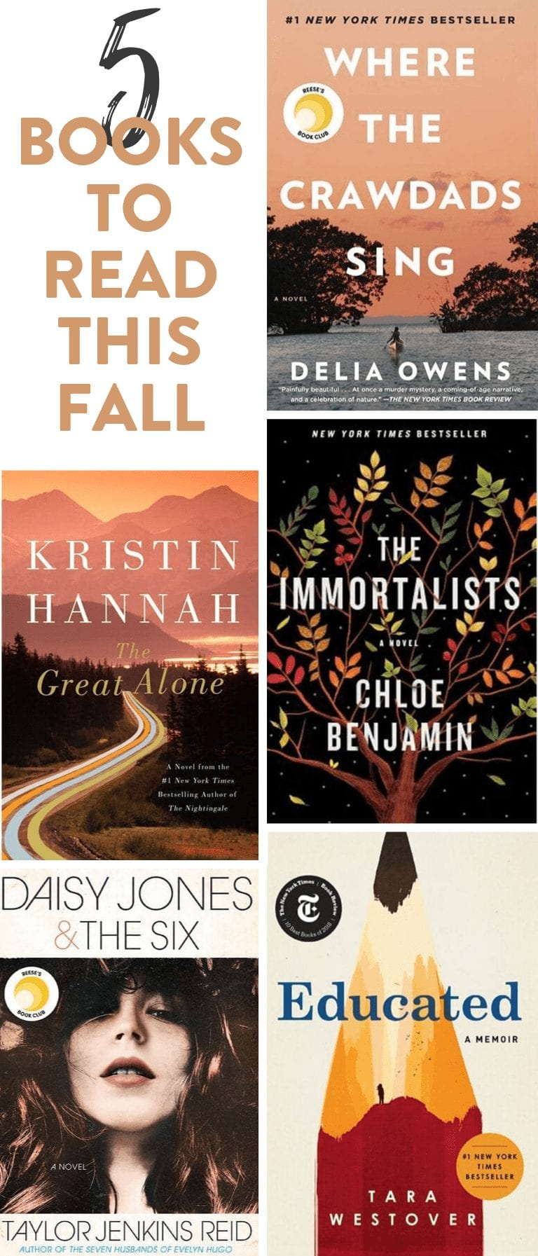 Cozy up this fall with a list of 5 fall books to get you reading all season long! #bookworm #books