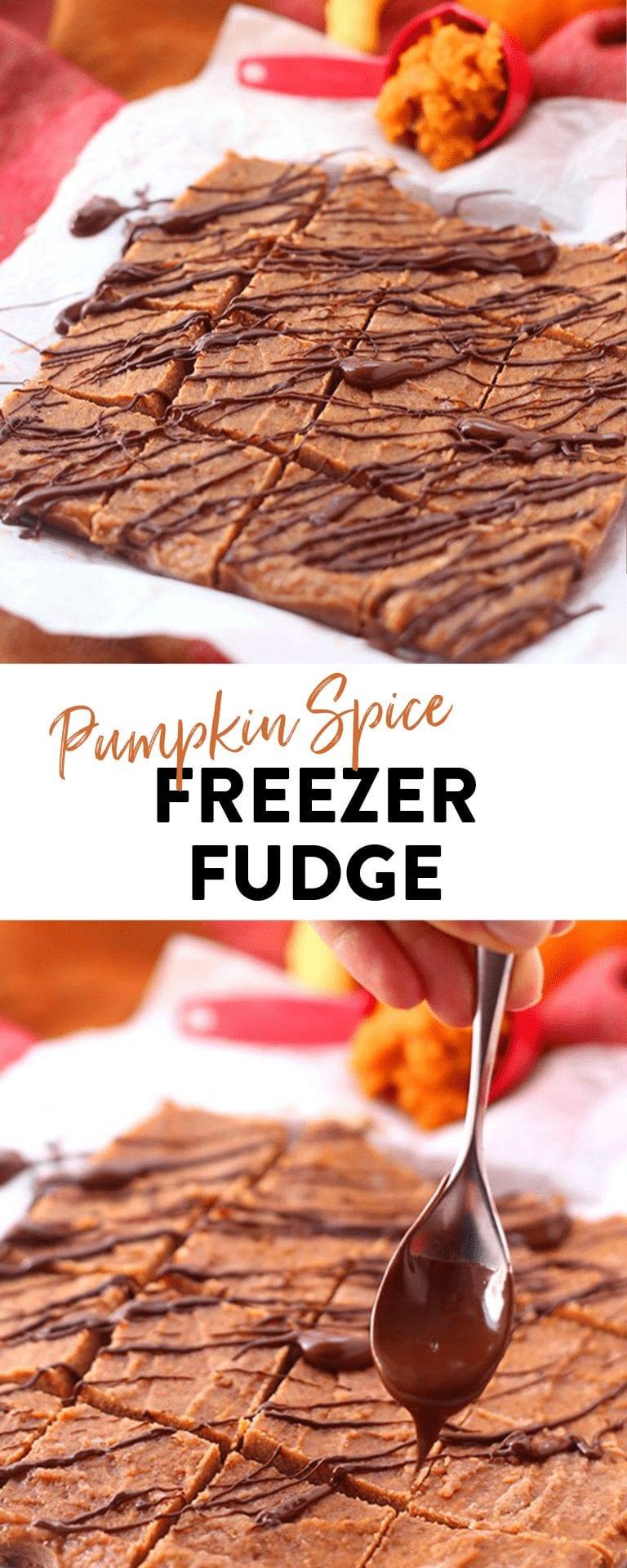 Pumpkin Fudge - Freezer Fudge