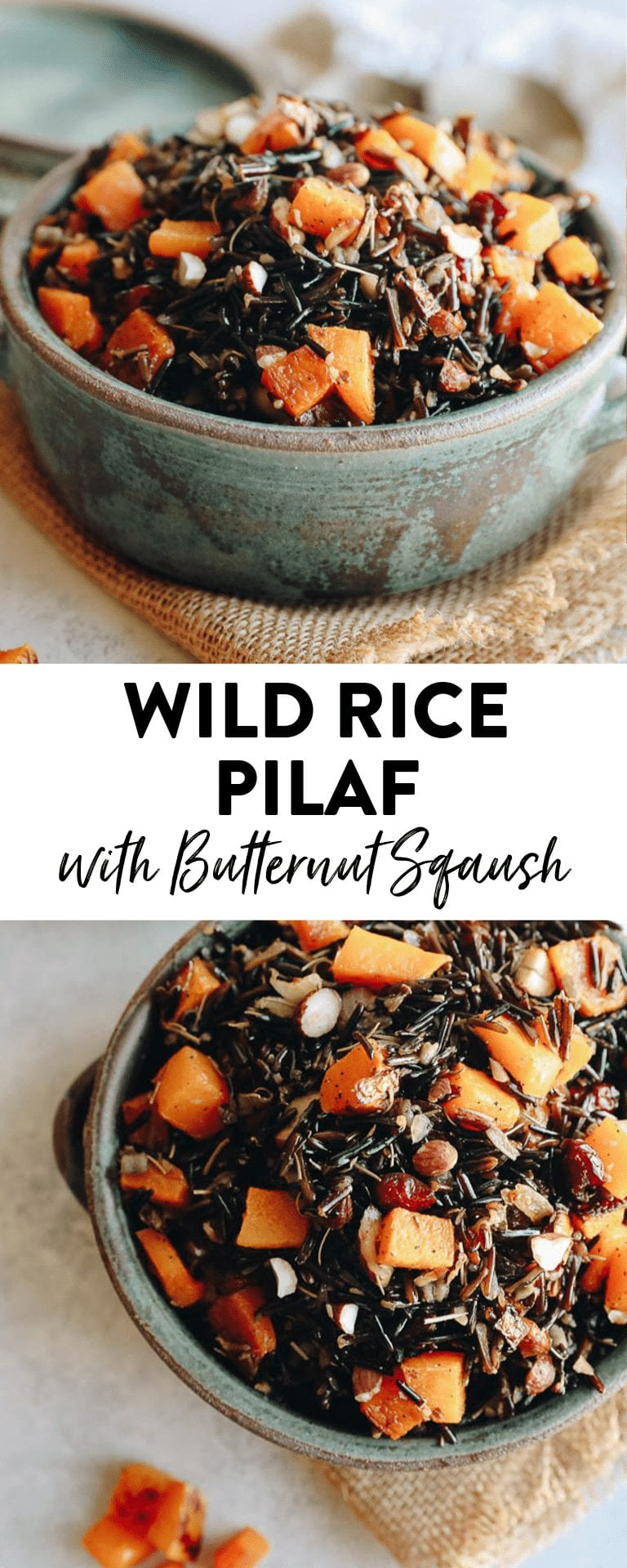 wild rice pilaf in a bowl