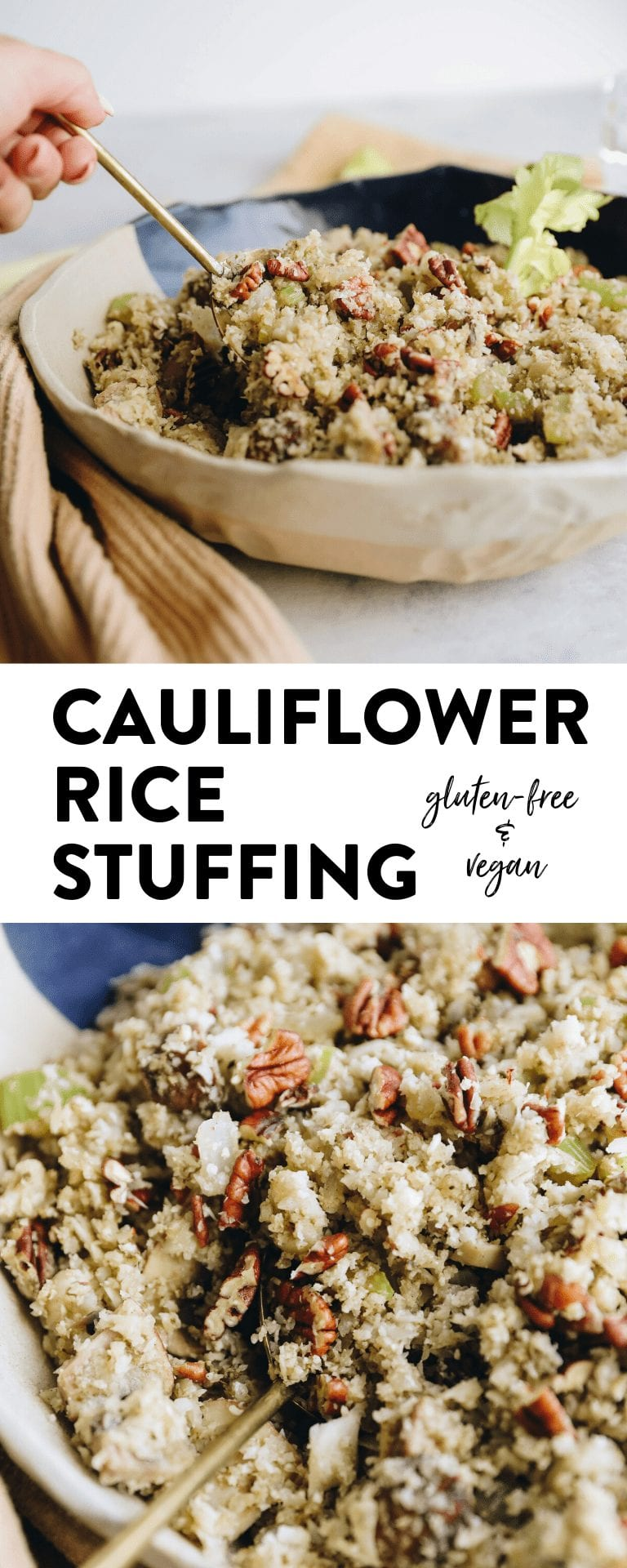 Cauliflower Stuffing for a healthy thanksgiving