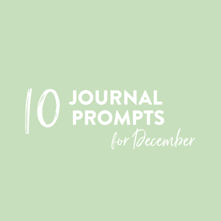 journal prompts for december