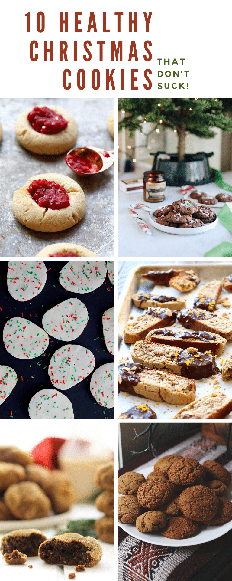 10 Healthy Christmas Cookies...that don't suck!