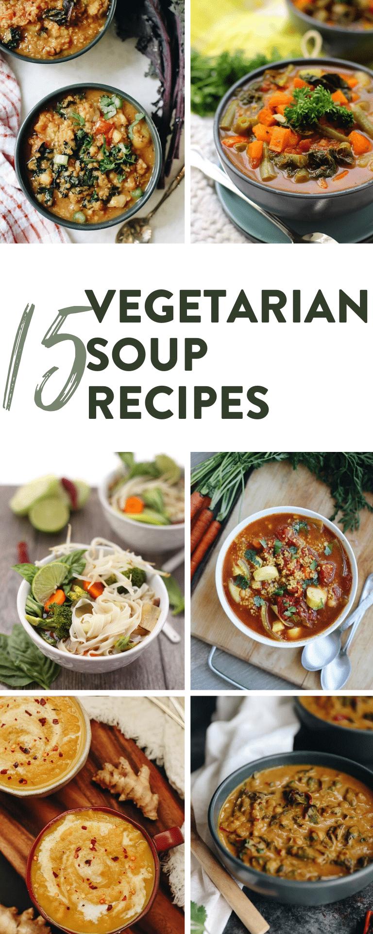 15 vegetarian soups for winter