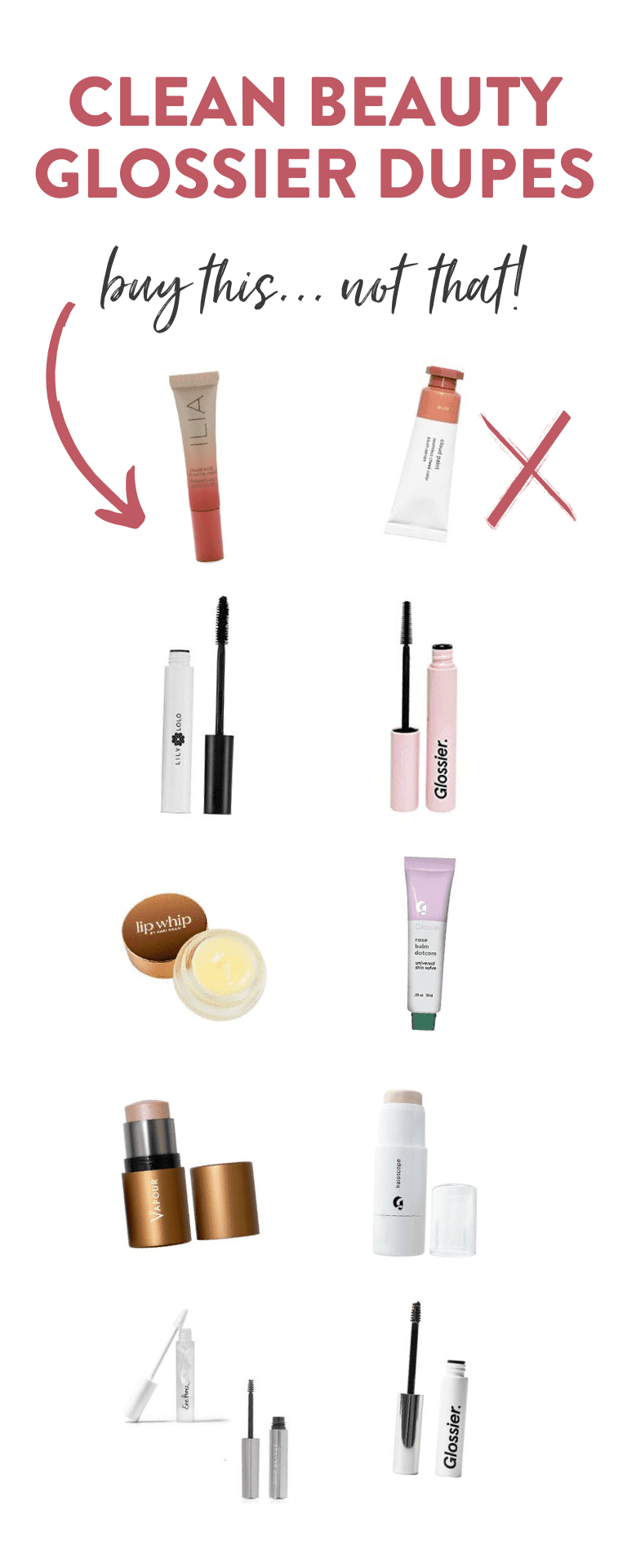 Clean Beauty Glossier Dupes The Healthy Maven