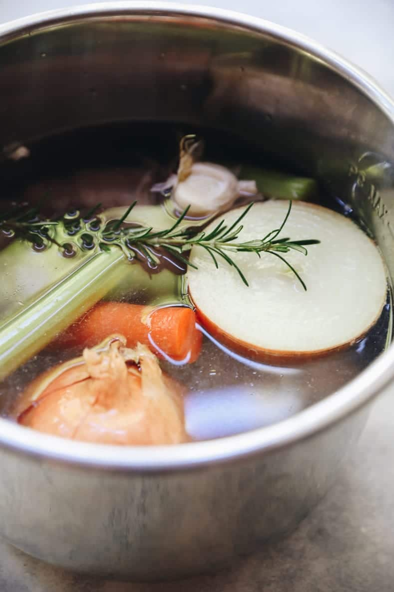 Instant Pot Chicken Bone Broth - Moderately High Maintenance