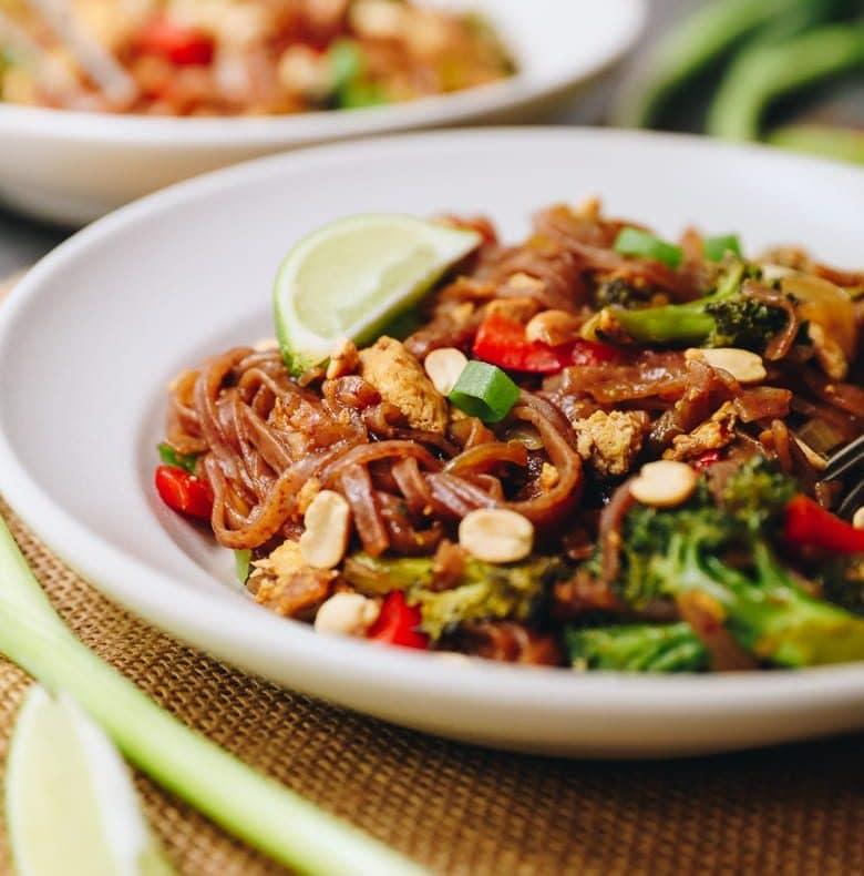 Vegetarian Pad Thai Recipe 20 Minute Meal The Healthy Maven