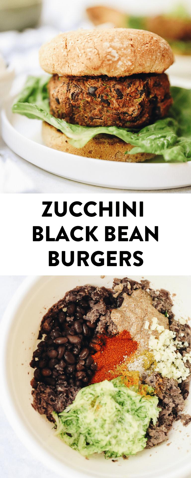 Zucchini Black Bean Burgers The Healthy Maven